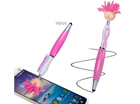 Promotional mop-topper-awareness-stylus-pen