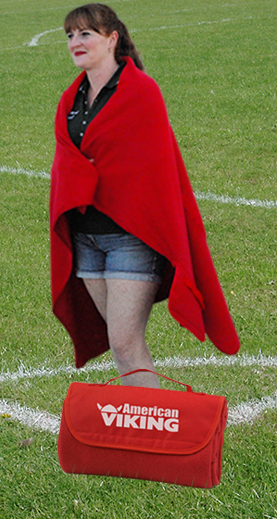 Promotional stadium-blanket