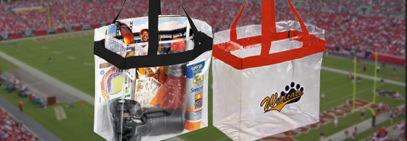 Promotional game-day-clear-stadium-tote