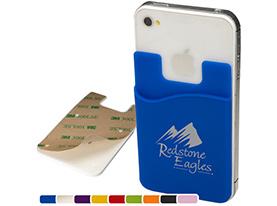 Promotional silicone-cellphone-pocket-card-holder-wallet
