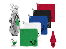 Promotional 300gsm-microfiber-custom-golf-towel-with-metal-grommet-and-clip