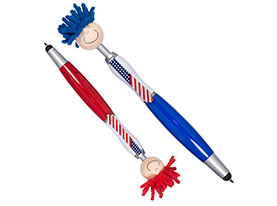 Promotional patriotic-moptopper-pen