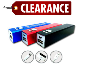 Promotional aluminum-usb-power-bank-charger-in-blue-black-or-red-limited-supply