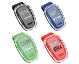 Promotional clear-cover-digital-pedometer