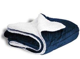 Promotional sutterwood-deluxe-micro-mink-sherpa-blanket