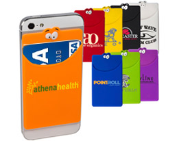 Promotional goofy-silicone-mobile-device-pocket