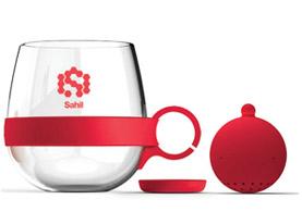 Promotional tea-ball-glass-mug