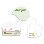 Promotional 4 x 3 Adhesive Die Cut Notepads  100 sheet pad