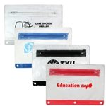 Promotional Clear Vinyl Zippered Pack with Colored Trim