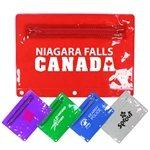 Promotional Premium Vinyl Zippered Pack, Translucent Colors