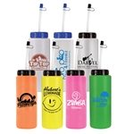 Promotional 32 oz. Sports Bottle with Flexible Straw - BPA Free