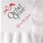 Promotional White 3-Ply Beverage Napkins, Coin edge Embossed