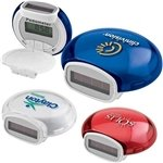 Promotional Translucent Bubble Solar Pedometer With Multiple Color Choices