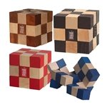 Promotional Eco-Friendly Wooden Elastic Cube Puzzle