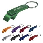 Promotional Aluminum Bottle/Can Opener Key Ring