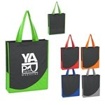 Promotional Non - Woven Tote With Accent Trim