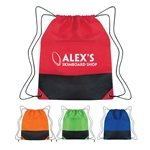 Promotional Non - Woven Two - Tone Drawstring Sports Pack
