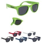 Promotional Polycarbonate UVA UVB Protection Folding Malibu Sunglasses