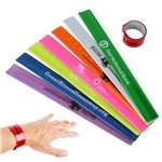 Promotional Custom Reflective Slap Bracelet With Multi Color Choices