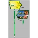 Promotional Iowa - Billboard InkBend Standard(TM) Shaped Pens