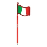 Promotional Italian Flag - Billboard(TM) InkBend Standard(TM) Shaped Pens