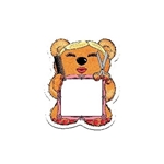 Promotional Stylist Bear Design - A - Bear Magnet