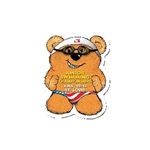 Promotional Swimmer Bear Design - A - Bear Magnet