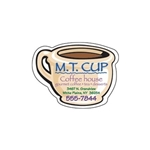 Promotional Coffee Cup Die - cut Magnet