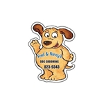 Promotional Dog (waving) - Die Cut Magnets