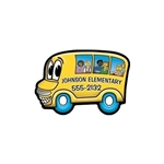 Promotional School Bus - Die Cut Magnets