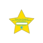 Promotional Star (large) Die - cut Magnet