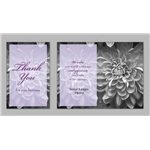 Promotional Thank You / Lavender Flower - Executive Greeting Cards with Magnets