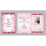 Promotional Save The Date - Pink Rose Petals Magnet Cards