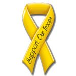 Promotional Support Our Troops Ribbon - Exterior/Auto Die Cut Magnets