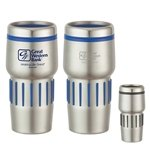 Promotional 16 oz Stainless Steel Tumbler With Rubber Grips