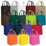 Promotional Non Woven Color Vista Multi Color Big Thunder Tote Bag 13 X 15