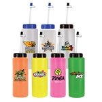 Promotional 32 oz. Sports Bottle with Flexible Straw (1 Side), Full Color Digital