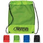 Promotional Mesh Panel Drawstring Backpack