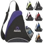 Promotional Polyester Multi Color Cutie Patootie Slingpack 13 X 17