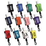 Promotional Cozy Clip 1/2 Oz Convenient Hand Sanitizer With Multiple Color Choices