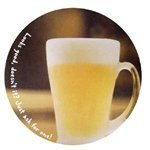 Promotional 3.5 Round, 60 Pt. Pulp Board Coaster