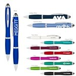 Promotional Metallic Curvaceous Twist Ballpoint Pen Stylus