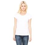 Promotional Bella + Canvas Ladies Stretch Rib Short - Sleeve Scoop Neck T - Shirt