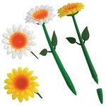Promotional Flower Pen - White or Yellow