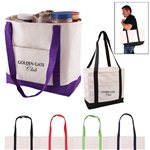 Promotional Cotton Canvas Multi Color Boat Tote Bag 20.5 X 13
