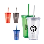 Promotional 16 oz Cyclone Double Walled Tumbler