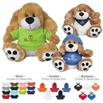 Promotional 8 Plush Big Paw Dog With Shirt