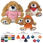Promotional 6 Plush Big Paw Dog With Shirt