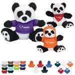 Promotional 6 Plush Big Paw Panda With Shirt
