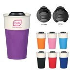 Promotional 13 oz Ceramic Mug With Silicone Sleeve